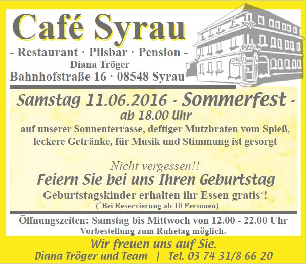 Angebote Cafe Syrau Juni 2016