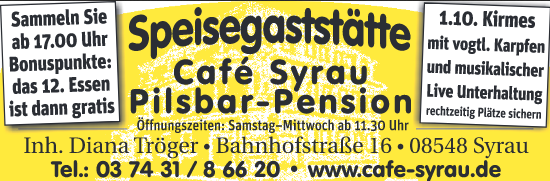 Angebote Cafe Syrau September 2017