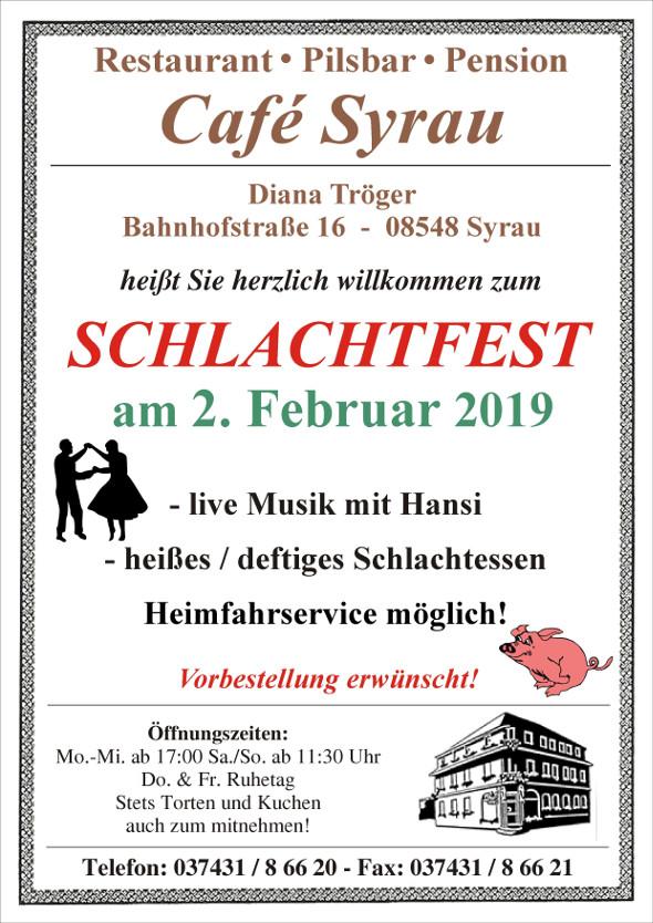 Schlachtfest Cafe Syrau