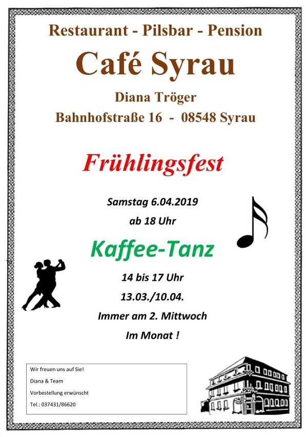 Tanz und Frühlingsfest im Cafe Syrau