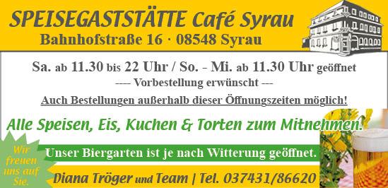 Cafe Syrau Juli 2020