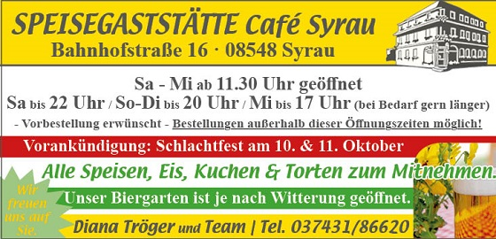 Cafe Syrau September 2020